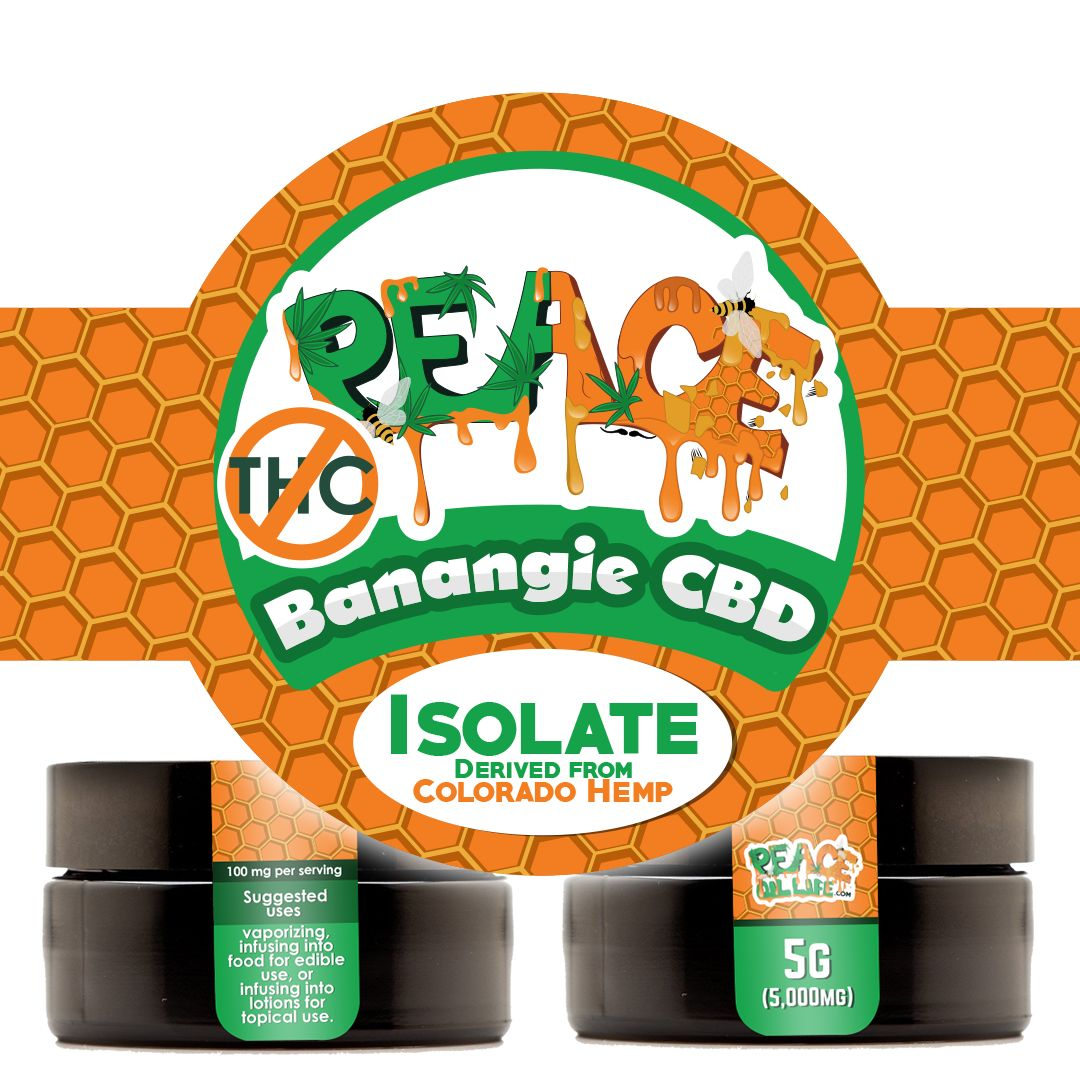 Product Mockup & Label Design for PeaceOilLife.com