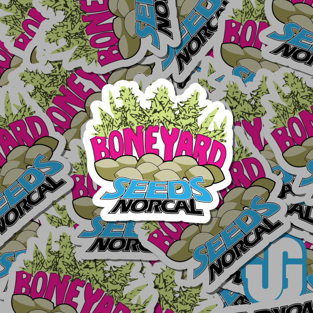 Die Cut Stickers for Boneyard Seeds Norcal