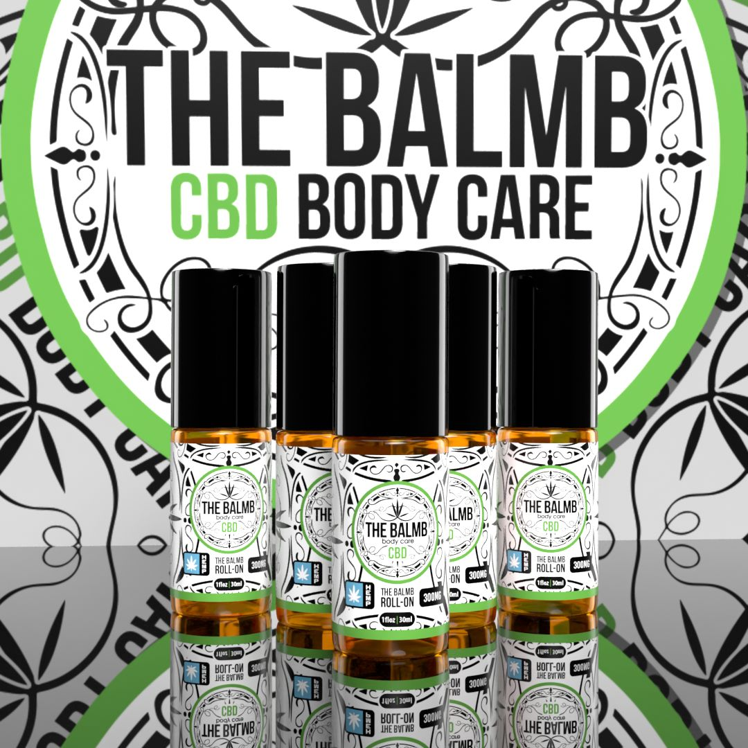 The Balmb CBD Body Care Label Design & Mockup
