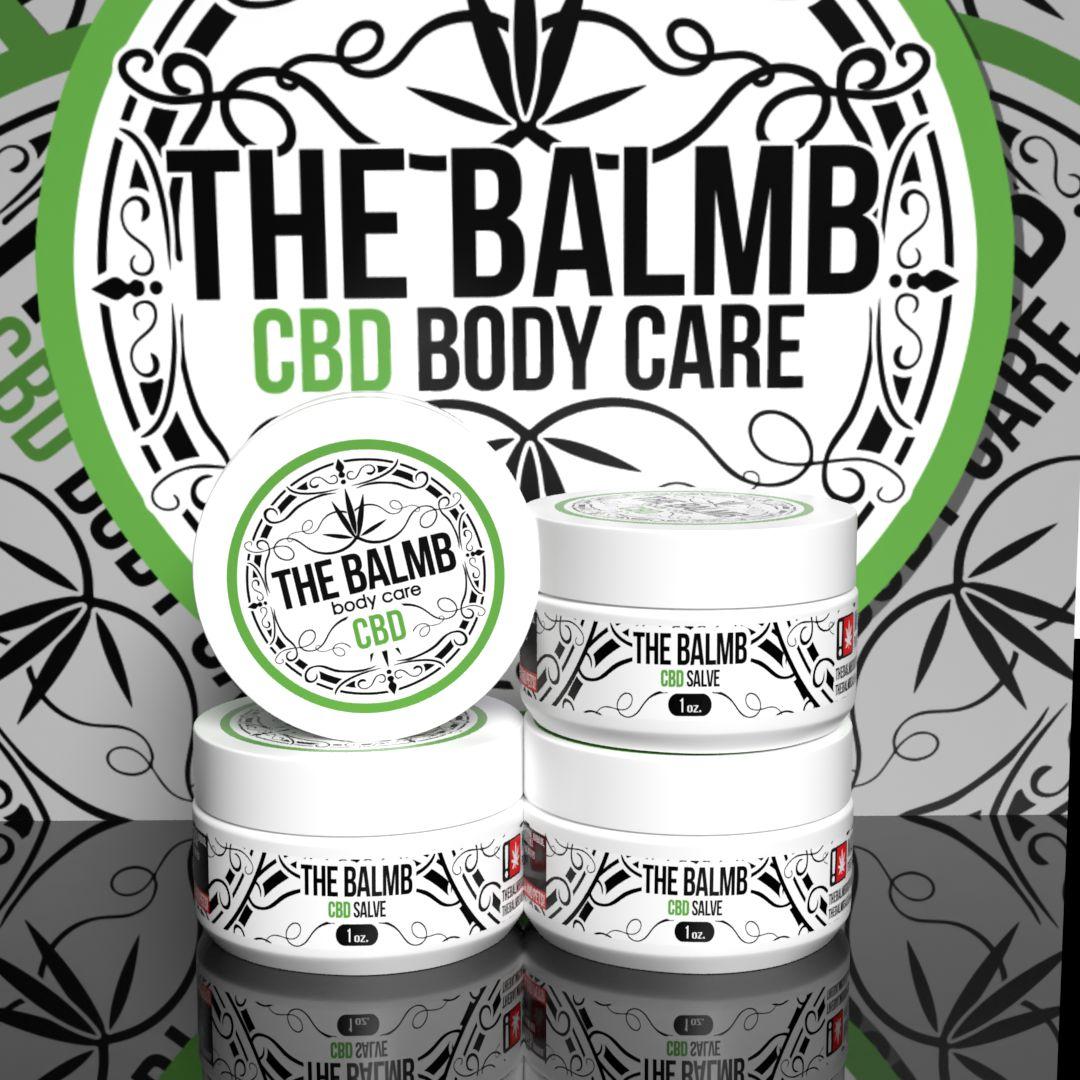 The Balmb CBD Body Care Label Design & Mockup