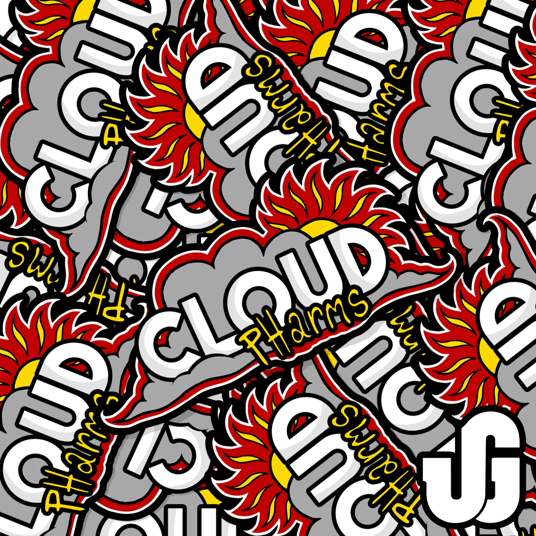 Die Cut Stickers for Cloud Pharms