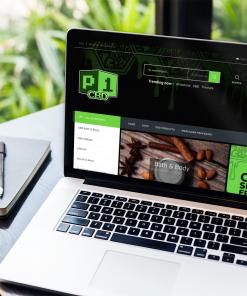 Website design for P1CBD.com