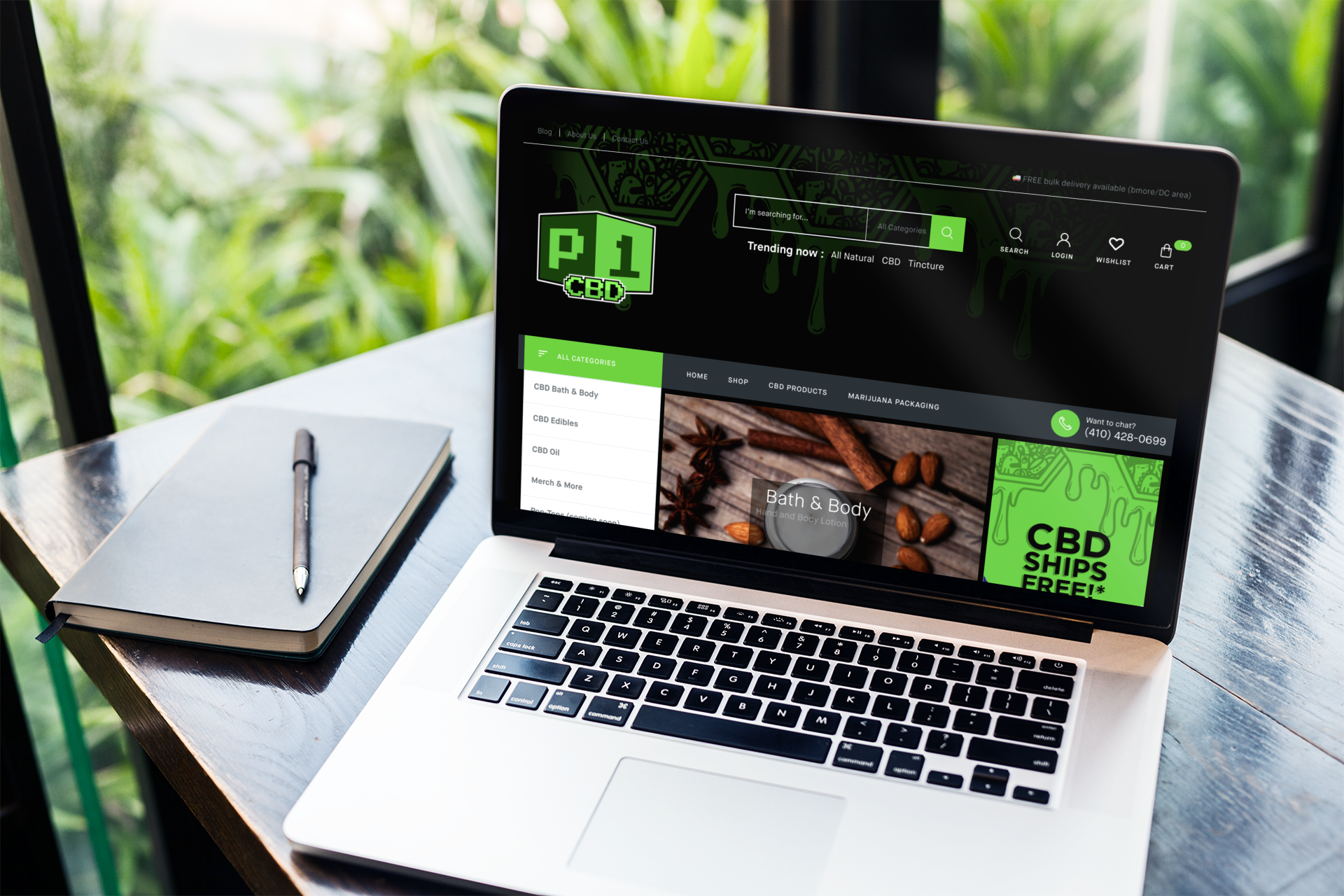 Website design for P1CBD.com
